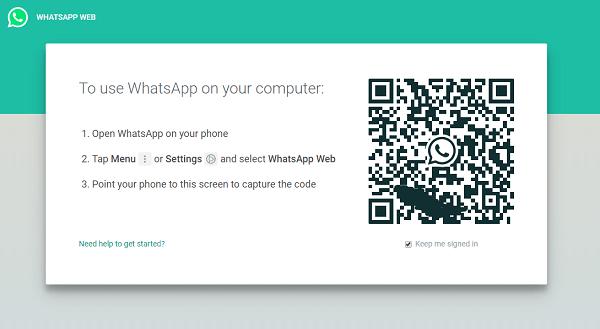 Kode Batang QR WhatsApp