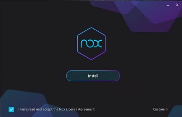 Cara Instal Nox di PC
