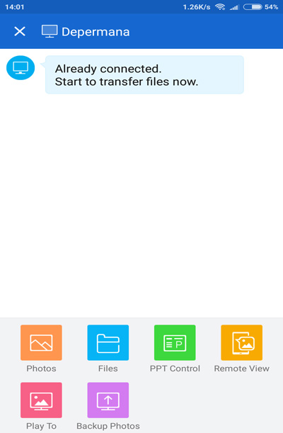 mengirim file dengan shareit