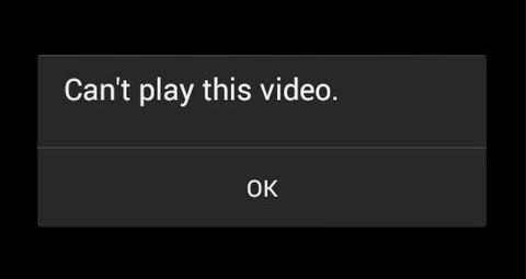 video tidak bisa diputar di android