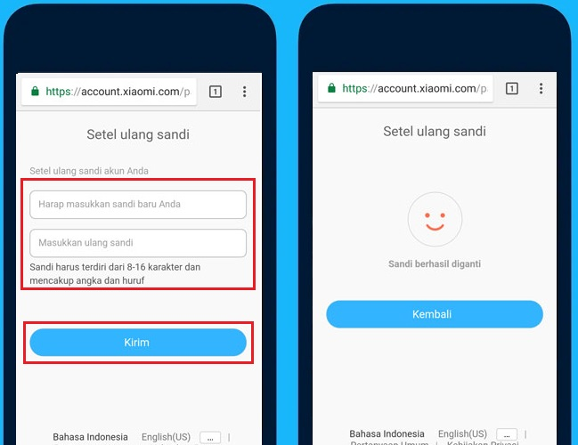 mengatasi lupa password Akun Mi