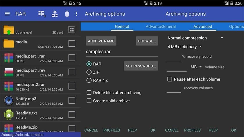 cara extract file zip dan rar di android