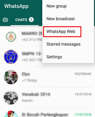mengeluarkan penyadap whatsapp