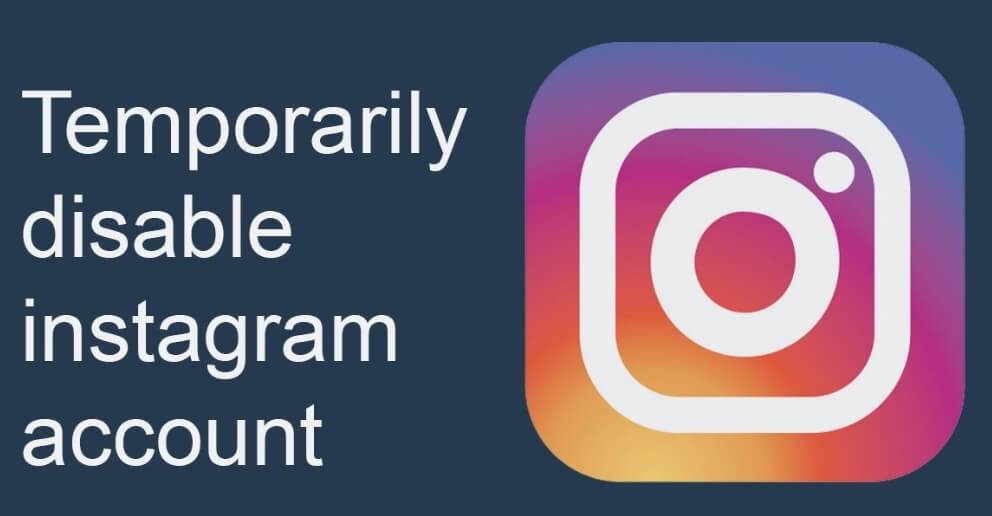 menonaktifkan akun instagram