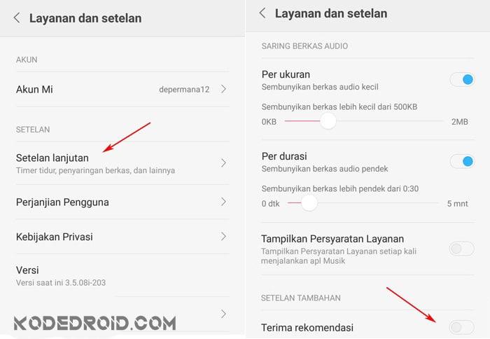 Cara menghilangkan iklan rekomendasi di HP Xiaomi