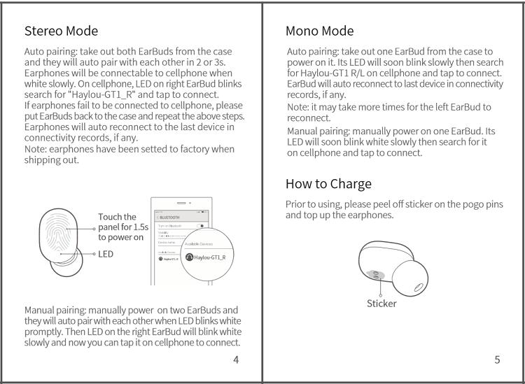 Buku panduan reset Haylou GT1